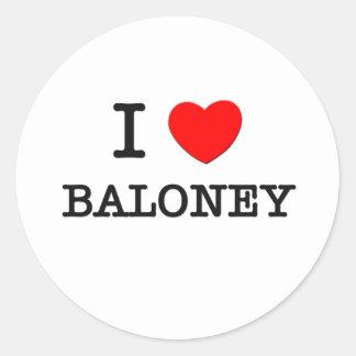 Amo Baloney Pegatina Redonda