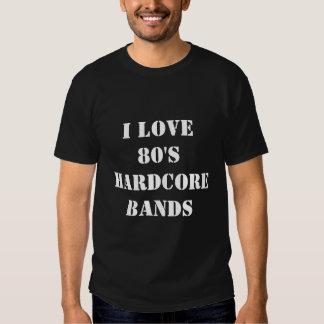 Amo bandas incondicionales de los años 80 camisas