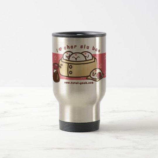 amo bao del siu del carbón de leña taza de viaje