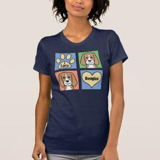 Amo beagles camiseta