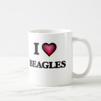 Amo beagles taza de café