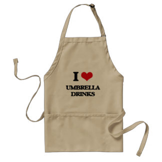 Amo bebidas del paraguas delantal