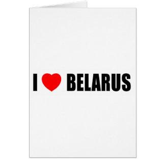 Amo Bielorrusia Tarjeta De Felicitación