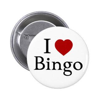 Amo bingo chapa redonda de 5 cm