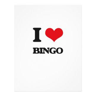 Amo bingo folleto 21,6 x 28 cm