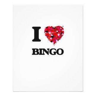 Amo bingo folleto 11,4 x 14,2 cm
