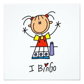 Amo bingo invitación 13,3 cm x 13,3cm