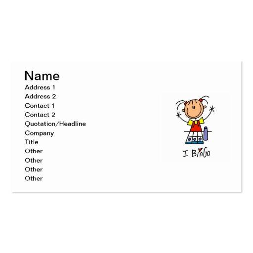 Amo bingo plantilla de tarjeta de visita