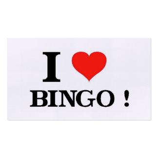 Amo bingo tarjetas de visita