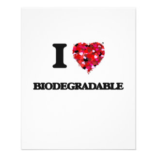 Amo biodegradable folleto 11,4 x 14,2 cm