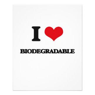 Amo biodegradable tarjetas informativas