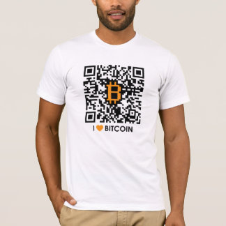 Amo Bitcoin - haga su propia camiseta de Bitcoin