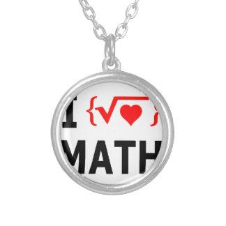 Amo blanco de la matemáticas collar plateado