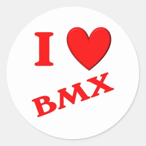 Amo BMX Etiquetas Redondas