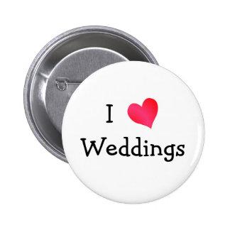 Amo bodas chapa redonda 5 cm
