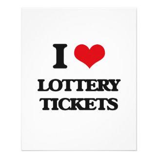 Amo boletos de lotería folleto 11,4 x 14,2 cm