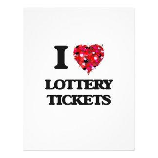 Amo boletos de lotería folleto 21,6 x 28 cm
