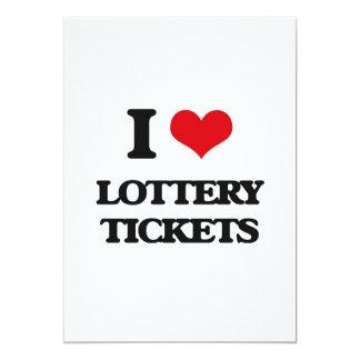 Amo boletos de lotería invitación 12,7 x 17,8 cm