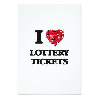 Amo boletos de lotería invitación 8,9 x 12,7 cm