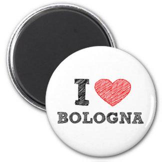 Amo Bolonia Imán Redondo 5 Cm