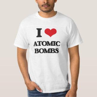 Amo bombas atómicas camisetas