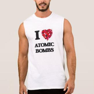 Amo bombas atómicas camisetas sin mangas
