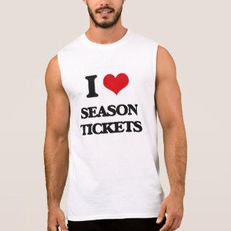 Amo bonos de temporada camiseta sin mangas