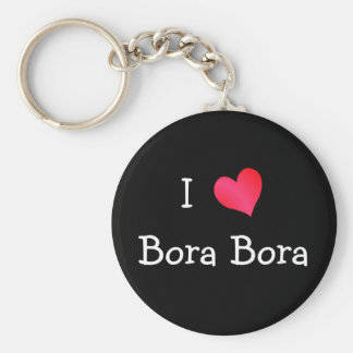 Amo Bora Bora Llavero Redondo Tipo Chapa