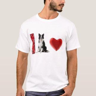 ¡Amo borderes collies!!  Camiseta del border