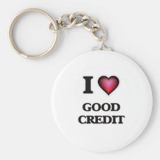 Amo buen crédito llavero redondo tipo chapa