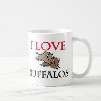 Amo búfalos taza de café