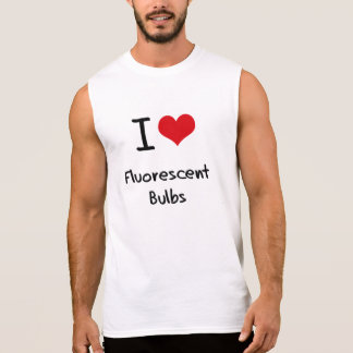 Amo bulbos fluorescentes camiseta sin mangas