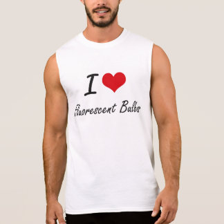 Amo bulbos fluorescentes camisetas sin mangas
