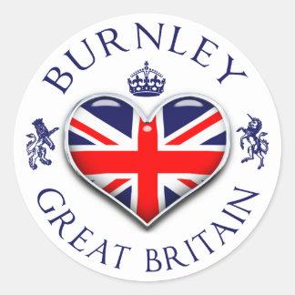 Amo Burnley Pegatina Redonda