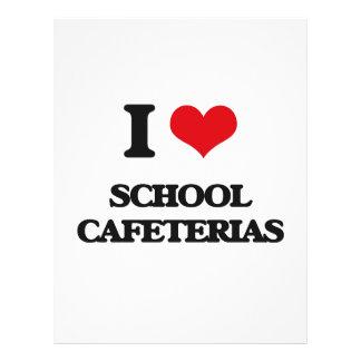 Amo cafeterías de la escuela folleto 21,6 x 28 cm