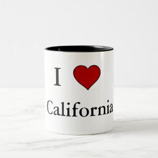 Amo California - taza del Dos-Tono