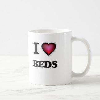 Amo camas taza de café