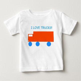 """""""Amo camiseta del bebé de los camiones"""""""