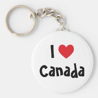 Amo Canadá Llavero Redondo Tipo Chapa
