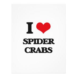 Amo cangrejos de araña flyer a todo color