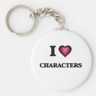 Amo caracteres llavero redondo tipo chapa