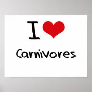 Amo carnívoros póster