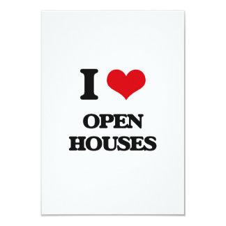 Amo casas abiertas invitación 8,9 x 12,7 cm