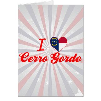 Amo Cerro Gordo Carolina del Norte Felicitacion