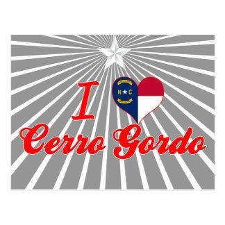 Amo Cerro Gordo Carolina del Norte Tarjetas Postales