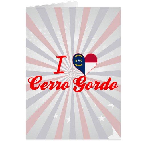Amo Cerro Gordo, Carolina del Norte Felicitacion