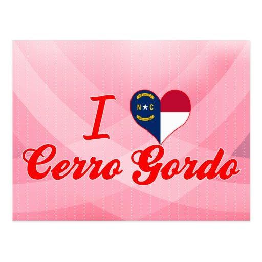 Amo Cerro Gordo, Carolina del Norte Postales