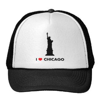 Amo Chicago - estatua de la libertad Gorros