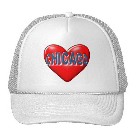 Amo Chicago Gorros Bordados