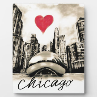 Amo Chicago Placa Expositora